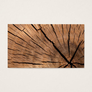 Wood Log Business Card