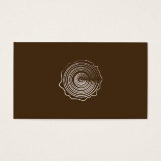 Wood Logo Business Card