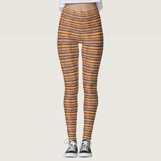 Wood Logs Look Leggings