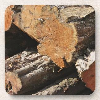 Wood Logs Set of 6 Coasters