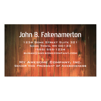 Wood Look Business Card