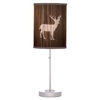 Wood Look Deer Table Lamp