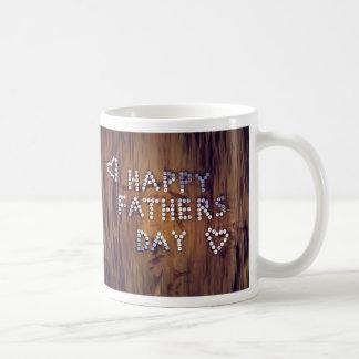 Wood-Look Happy Fathers Day Coffee Mugs