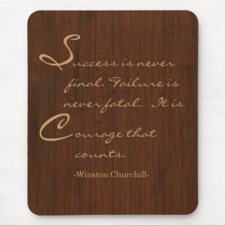 Wood look mouse pad