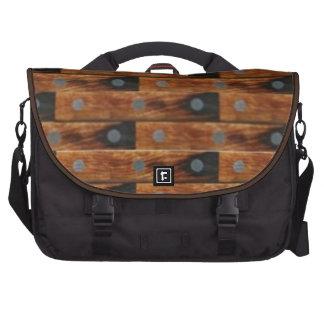 Wood Look Pattern Laptop Messenger Bag