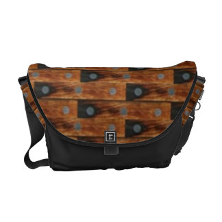Wood Look Pattern Courier Bag