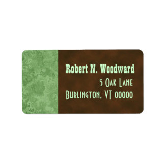 Wood Look Return Address Labels, Medium Label