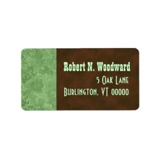 Wood Look Return Address Labels, Medium Label