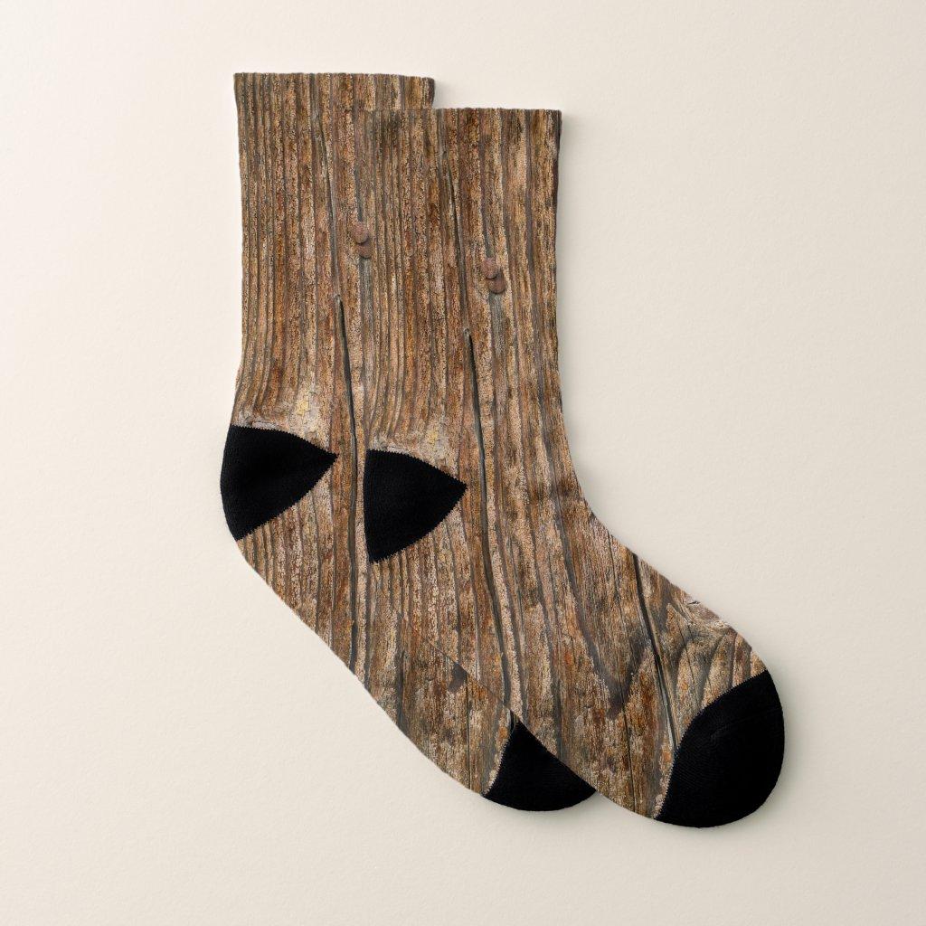 Wood Look Rustic Chic Socks