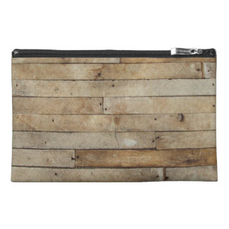 Wood Look Travel Accessory Bags
