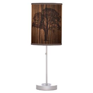 Wood Look Tree Silhouette Table Lamp
