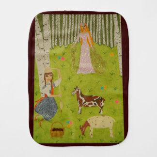 Wood Maiden Burp Cloth