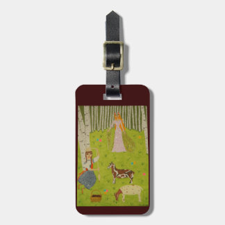 Wood Maiden Luggage Tag