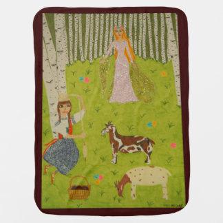 Wood Maiden Receiving Blanket