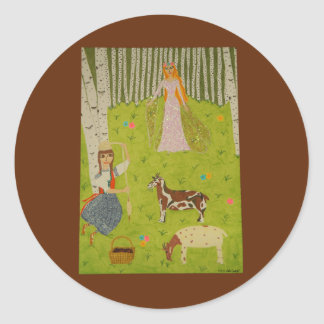 Wood Maiden Stickers