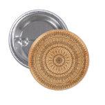 Wood mandala button