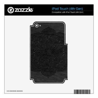 Wood mandala iPod touch 4G skins