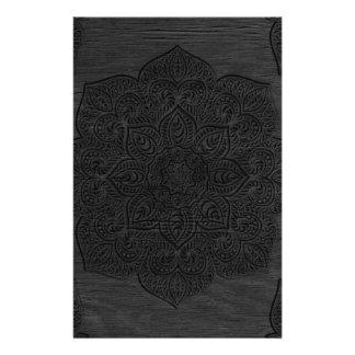 Wood mandala stationery