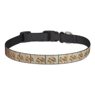 Wood Maryland flag dog collar medium