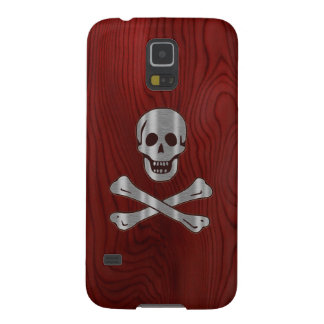 Wood Metal  Pirate Case For Galaxy S5