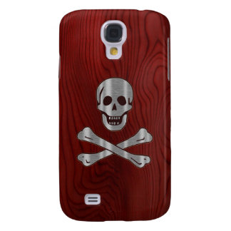 Wood Metal  Pirate Samsung Galaxy S4 Covers
