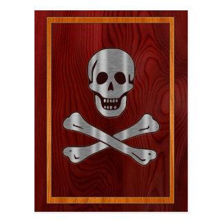 Wood Metal Pirate Postcard