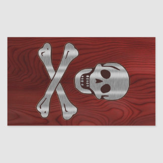 Wood Metal  Pirate Sticker