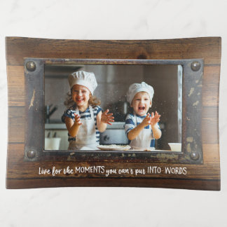 Wood & Metal - Rustic Faux Finish | Family Photo Trinket Trays