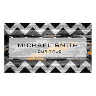 Wood Modern Aztec Chevron Pattern #4 Business Card Templates