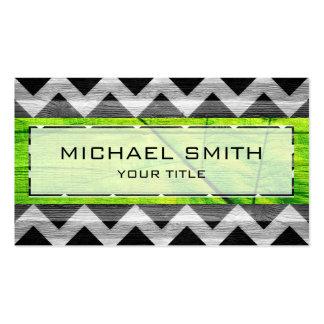 Wood Modern Aztec Chevron Pattern #6 Business Card Template