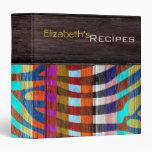 Wood Modern Zebra Print #4 Vinyl Binders