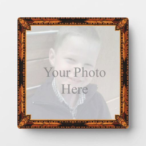 Wood Mosaic Style Your Photo Frame Plaque