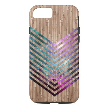 Wood nebula chevron iPhone 8/7 case