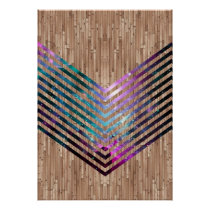 Wood nebula chevron poster