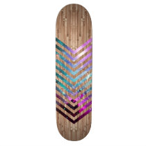 nebula, boho, chevron, wood, hipster, cool, wood nebula chevron, vintage, galaxy, skateboard, stars, funny, geek, space, zigzag, wood pattern, hip, classy, original, skateboard deck, Skateboard with custom graphic design