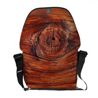 Wood Node Messenger Bag