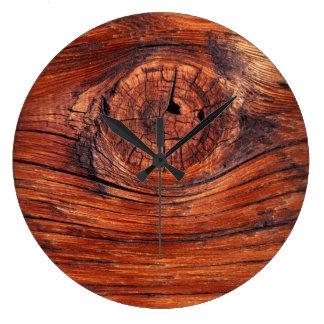 Wood Node Texture Wall Clock