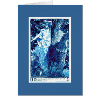 Wood Nymph - Blue/Teal Card