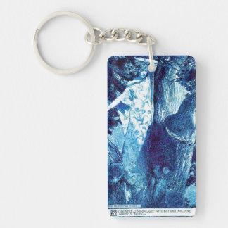 Wood Nymph - Blue/Teal Single-Sided Rectangular Acrylic Keychain