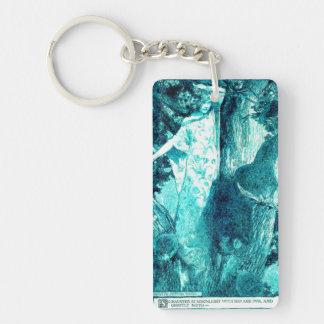 Wood Nymph - Green/Teal Single-Sided Rectangular Acrylic Keychain