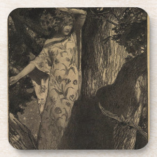 Wood Nymph - Sepia Drink Coaster