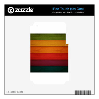 Wood of colors decals for iPod touch 4G