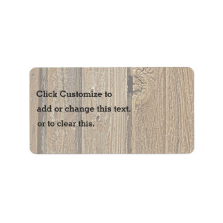 Wood On The Ground Address Label