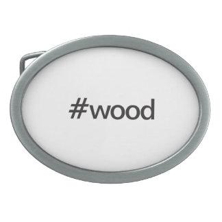 wood oval belt buckles