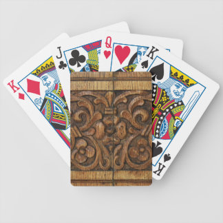wood panel bicycle playing cards