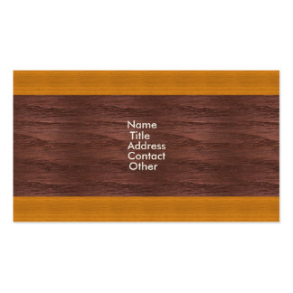 Wood Panel Pattern Business Cards