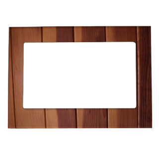 Wood Panel Texture Magnetic Photo Frames