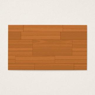 Wood Parquet Floor Pattern Business Card