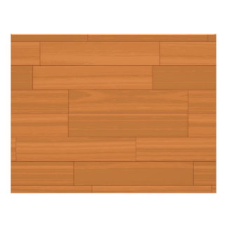 Wood Parquet Floor Pattern Flyer