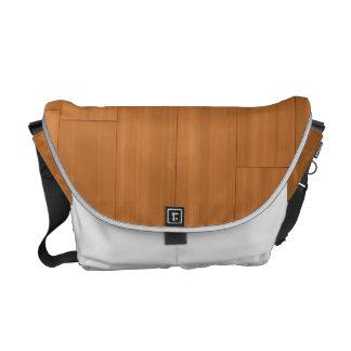 Wood Parquet Floor Pattern Messenger Bags